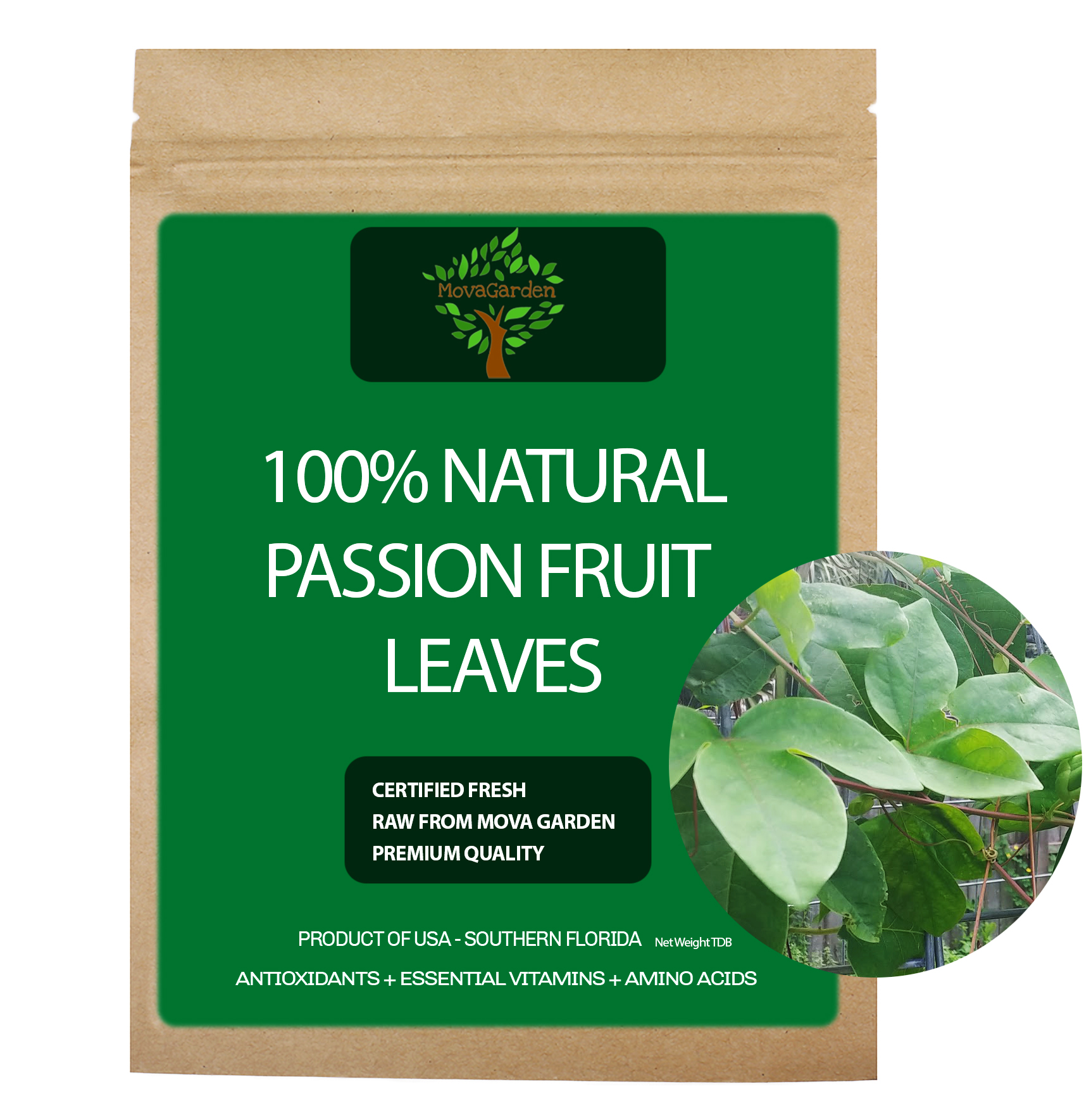 Fresh Passion Fruit Leaves - 25 Leaves